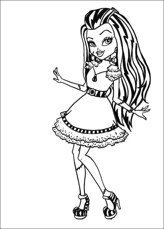 Tegninger til Farvelægning Monster High 6 | Tegninger - Farvelægning ...