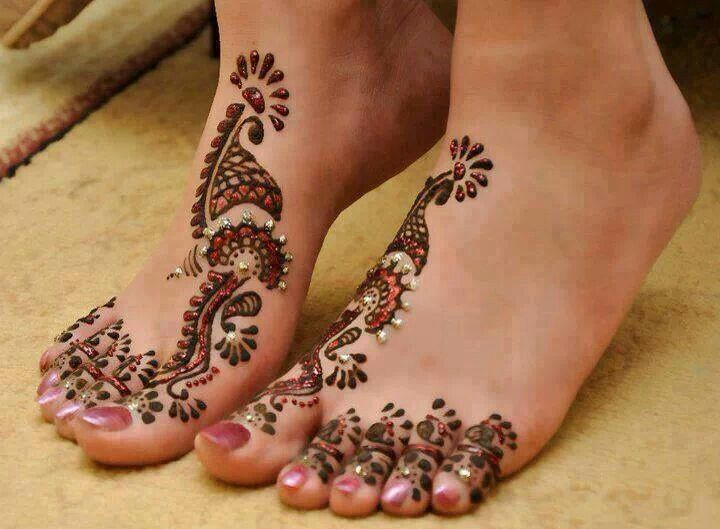 Flower Stickers Mehndi : Peacock foot stickers accessories peacocks and