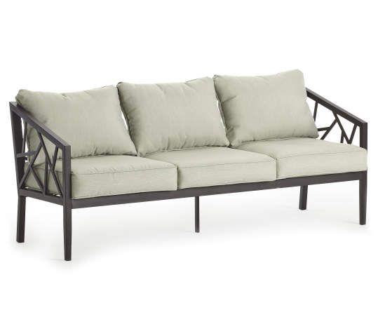 Real Living Verrado Black Cushioned Patio Sofa - Big Lots ... on Wilson & Fisher Verrado Black Cushioned Patio Sofa id=98336