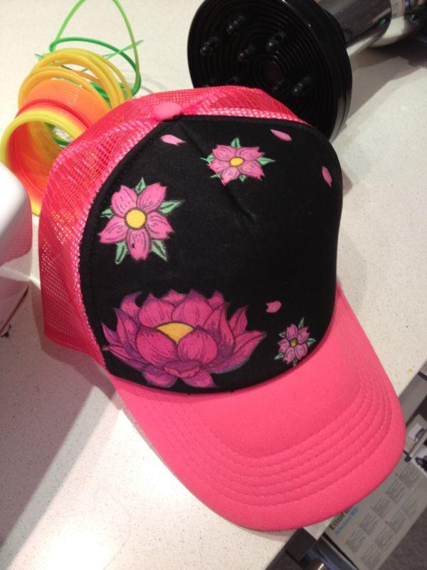 Gorra pintada a mano Sombreros Y Gorras b6c055cc142