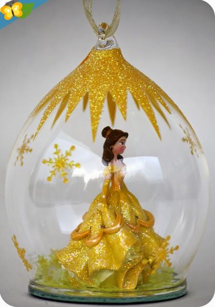 Boule De Noel Disney Princesse Livres et merveilles au pays de Ly Lan | Deco noel disney