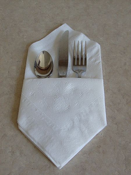 doblar servilletas de papel sencillo