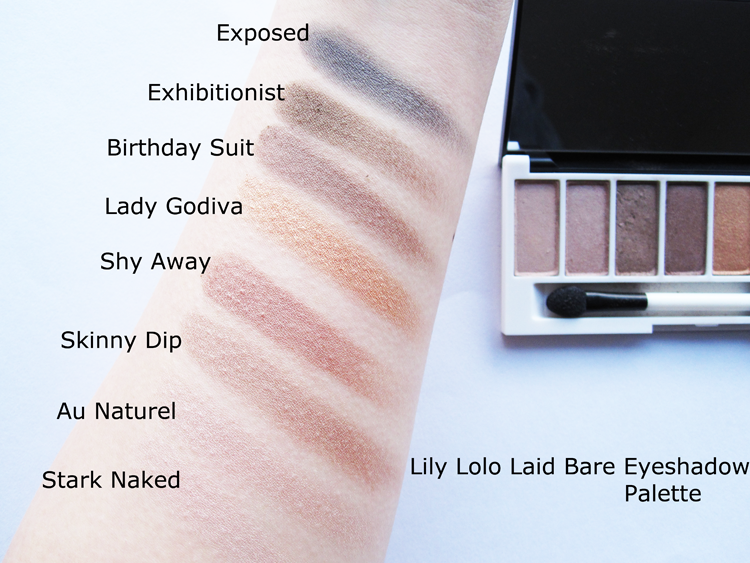 Lily Lolo Laid Bare Eyeshadow Palette review Lily lolo