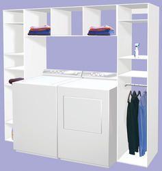 Dakota Shelving 94 1 2 X 15 3 4 X 84 Laundry Organizer At Menards Laundry Room Bathroom Laundry Room Storage Laundry Room