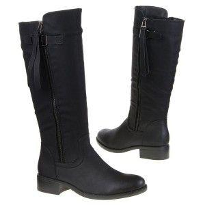 Verwonderend Dames laarzen platte zool zwart | Laarzen, Hakken laarzen MG-16