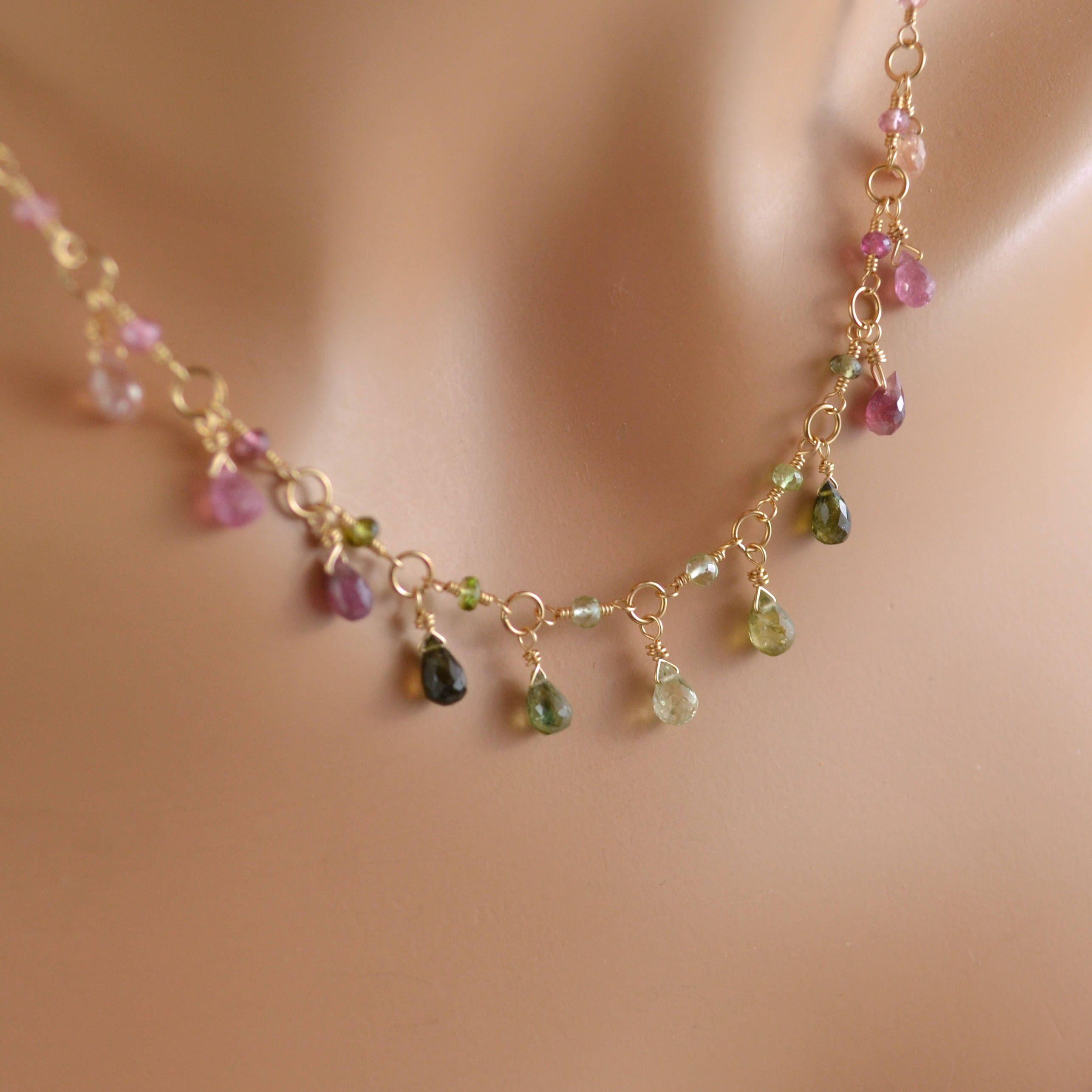 Genuine Ruby Earrings Berry Red Gemstone Cluster Cascade July Birthstone 14k Gold Filled