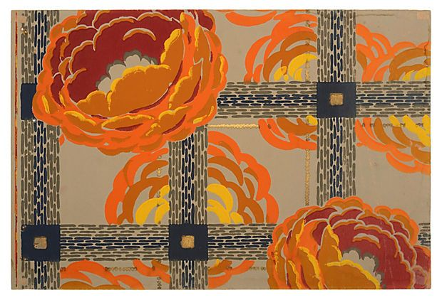 Art Deco Wallpaper Sample On OneKingsLane.com