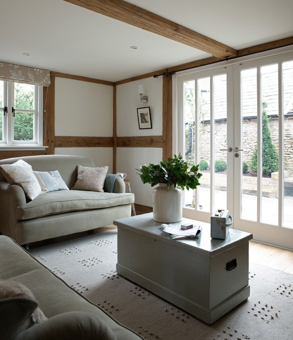 Living Room Ideas New Build living room to french doors | eardisley cottage | small house