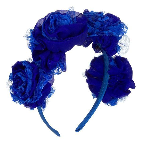 Carnation Headband Blue   Vjera Vilicnik   Wolf & Badger