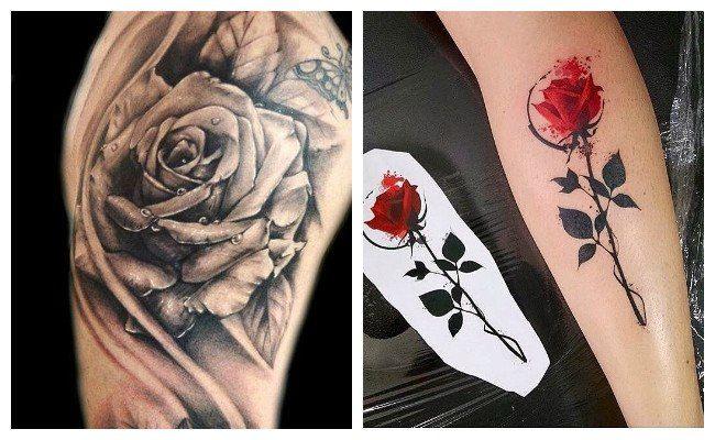 Tatuajes De Rosa En Acuarela Tatuajes Tattoos