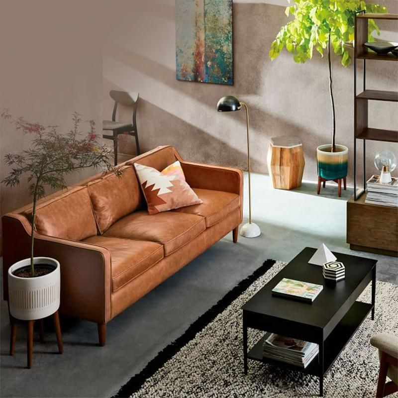 Lieblich Scandinavian Cowhide 3 Seat Sofa