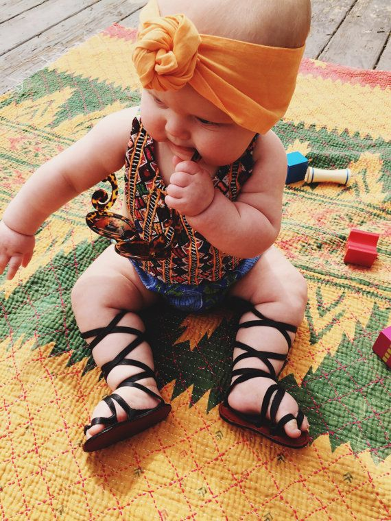 659a6a694ff Baby Gladiator Sandals by LocknKeyLeathers on Etsy