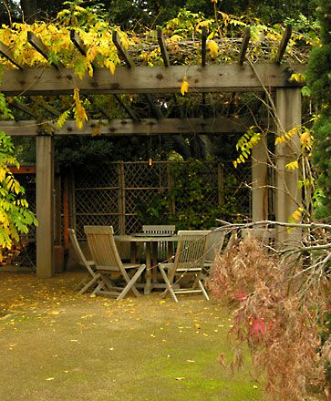 Open Lattice Patio Covers Allow For Climbing Plants To Grow And Provide Additional Shade