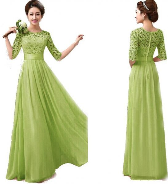 Affiliate دبلس فستان سهرة L اخضر فساتين المراة كاجوال هدوم ملابس فساتين سهرة ملابس حريمي فساتين طويل Womens Dresses Chiffon Lace Dress Long Dress