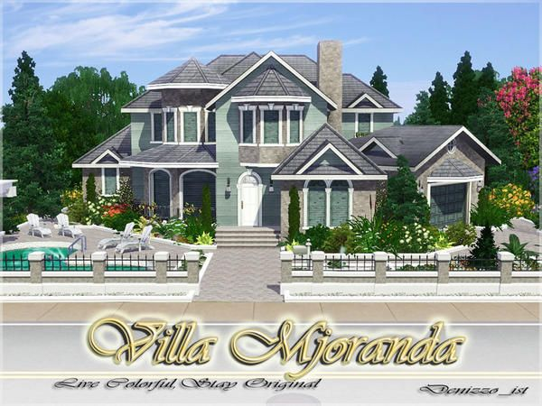 Villa Mjoranda By Denizzo Ist Free Sims 3 Lots Downloads The Sims Resource Tsr Custom Content Caboodle Best Sims Sims Building Sims 4 House Building Sims