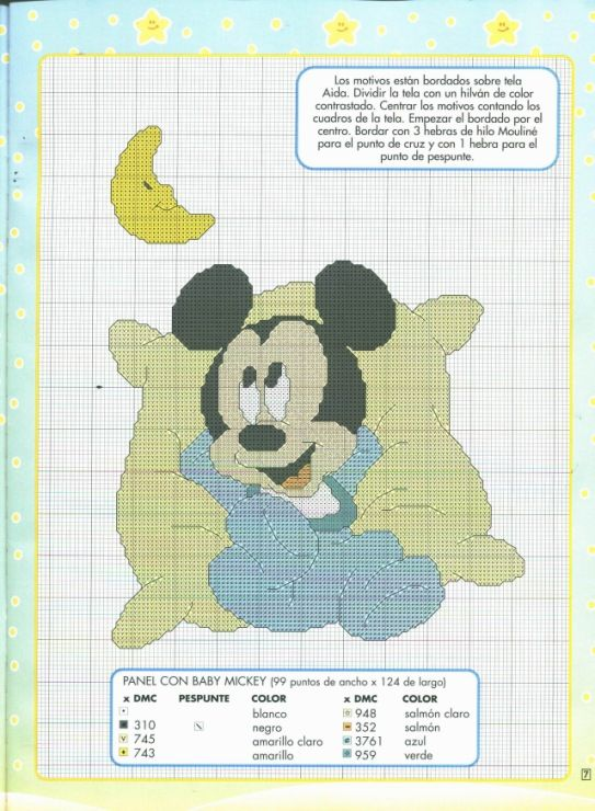 Gallery.ru / Фото #5 - punto de cruz Disney 2 - anfisa1 | mickey ...