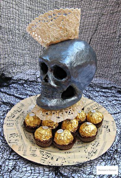 Queen of skulls Halloween DIY decor. ~ Mod Podge Rocks!
