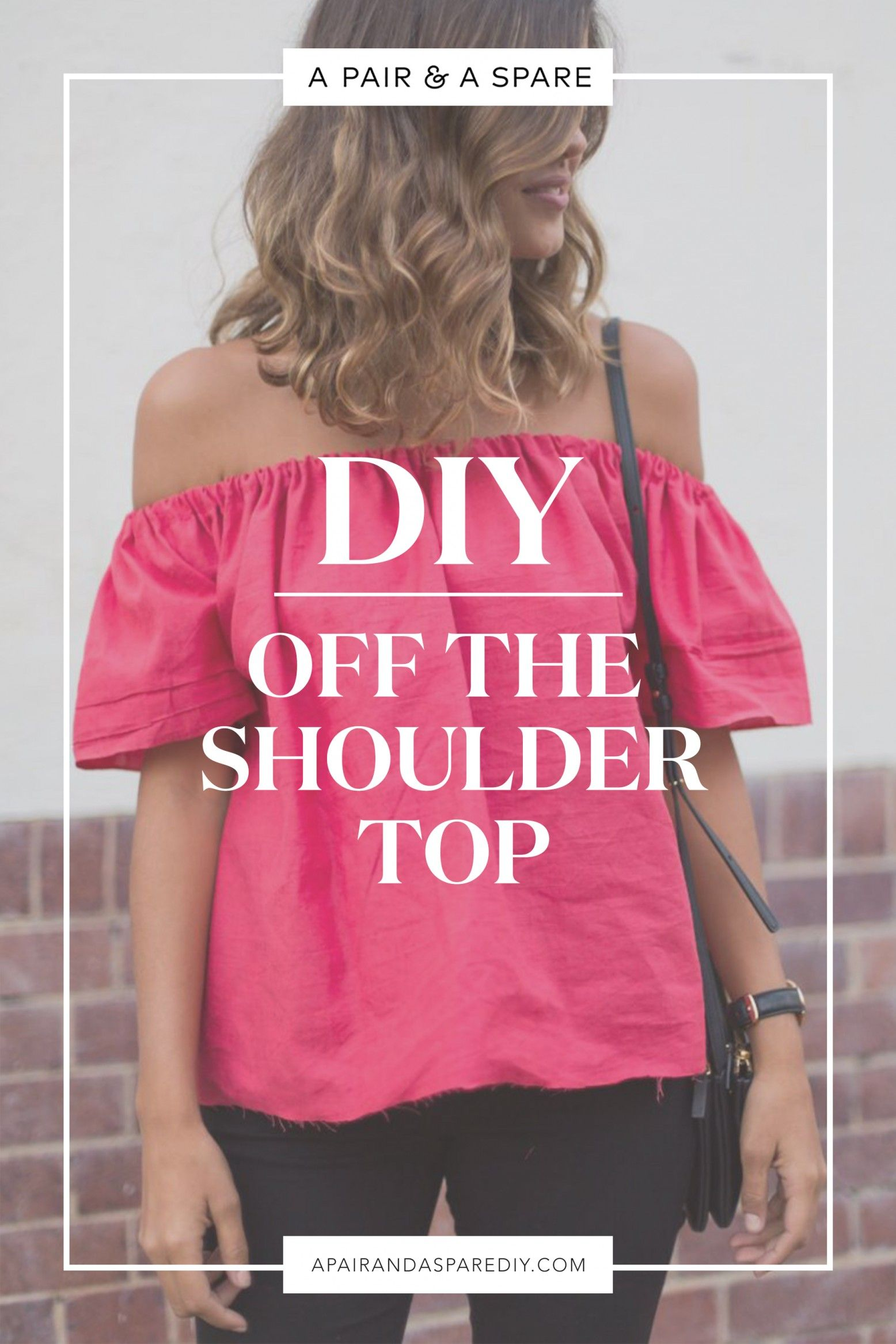 Diy Off The Shoulder Top Collective Gen Off Shoulder Diy Diy Off Shoulder Top Sewing Clothes