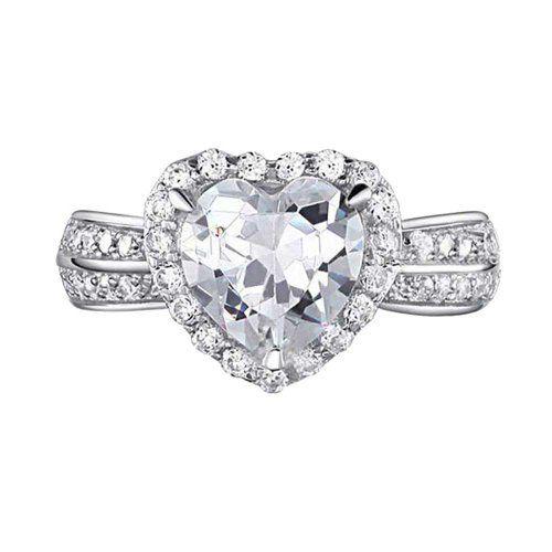 2.0 Carat Heart Cut Cubic Zirconia Solitaire w Accent 925 Sterling Silver Engagement Wedding Ring FlameReflection http://www.amazon.com/dp/B00HX4CY7I/ref=cm_sw_r_pi_dp_5BIQtb0DTEFQ2J01