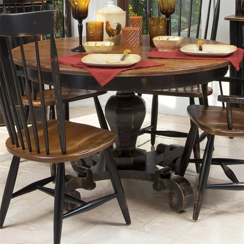 Champlain custom dining customizable round dining table for Unique round kitchen tables
