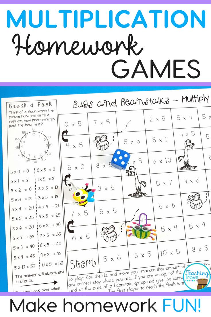fun maths homework