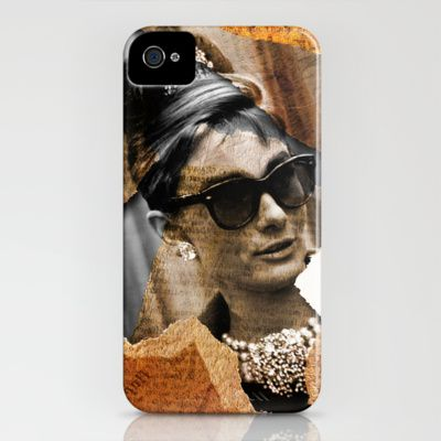 Audrey Hepburn - Ripped Paper Style - iPhone Case by Tobia Crivellari - $35.00 - http://society6.com/TobiaCrivellari/Audrey-Hepburn-Ripped-Paper-Style_iPhone-Case