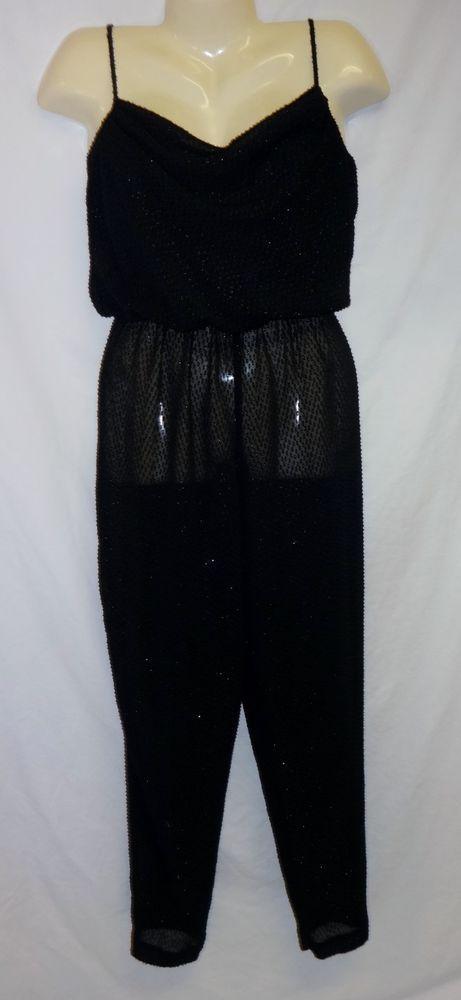 VTG 80's L.T.D LTD By Roberta S XS Jumpuit Sheer Pants Sexy CatSuit Retro Disco #LTDByRoberta
