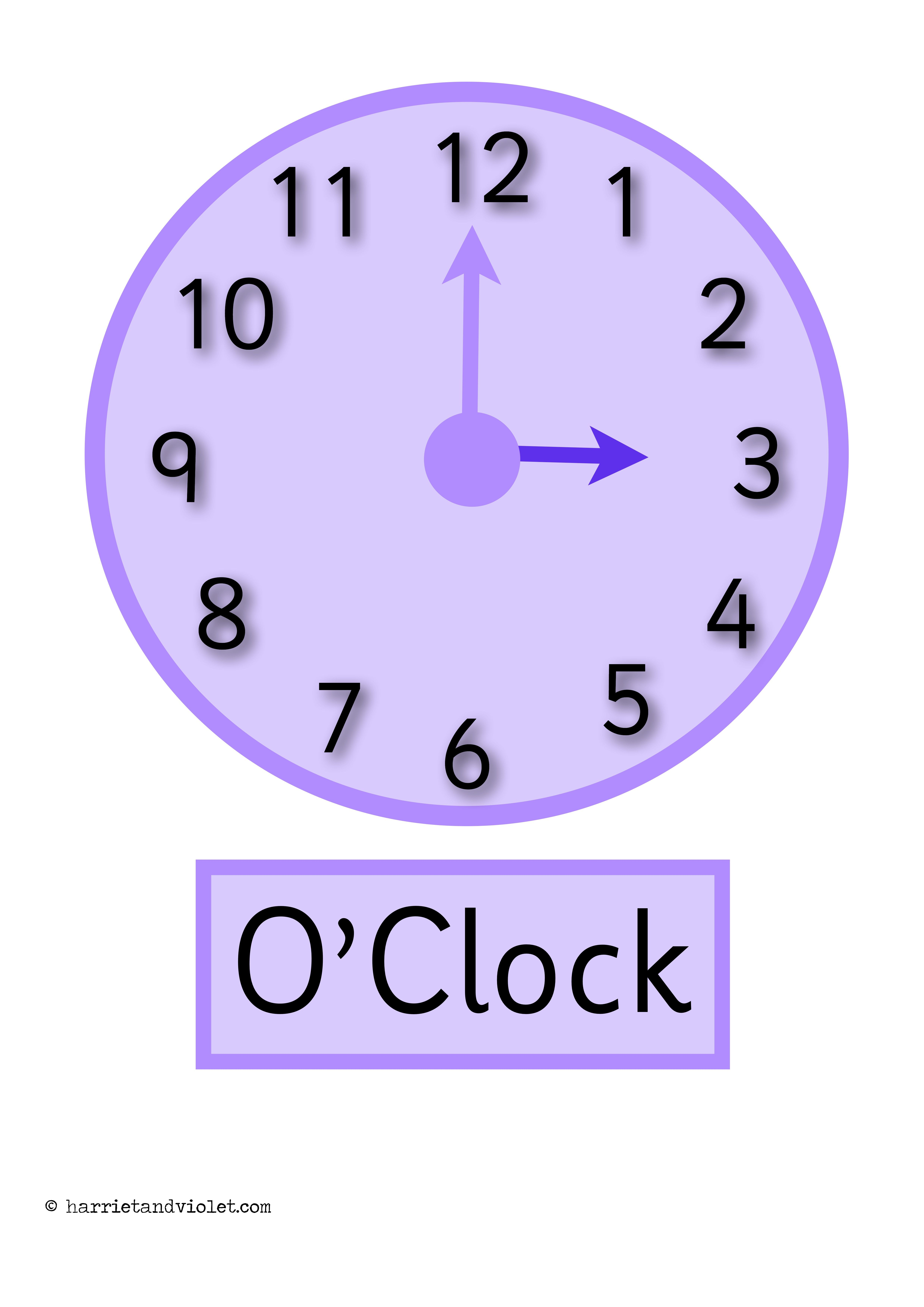 Clock Posters O Clock Half Past Display Or Flashcards Printable Teaching Resources Print Play Learn Printable Teaching Resources Teaching Clock Flashcards [ 7008 x 4958 Pixel ]