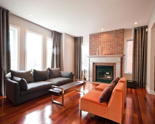 living room ideas with cherry wood floors interior design for narrow brazilian family remodels photos houzz