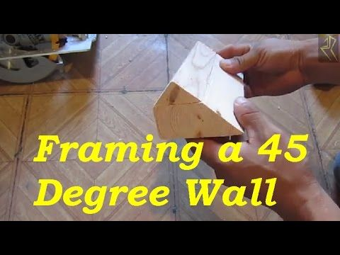 An Easy Way To Frame A 45 Degree Wall Framing Angled Corner