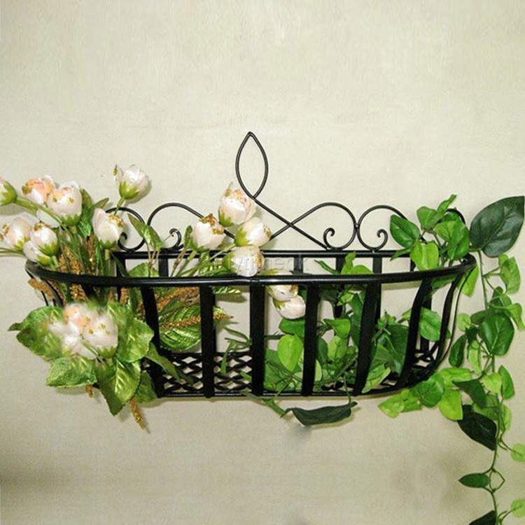Wrought Iron Metal Wire Wall Planter Window Box Garden Fence Decor Cinnamon Ftmk Unbrandedgeneric Europeanstyle Hanging Flower Wall Fence Decor Wall Planter