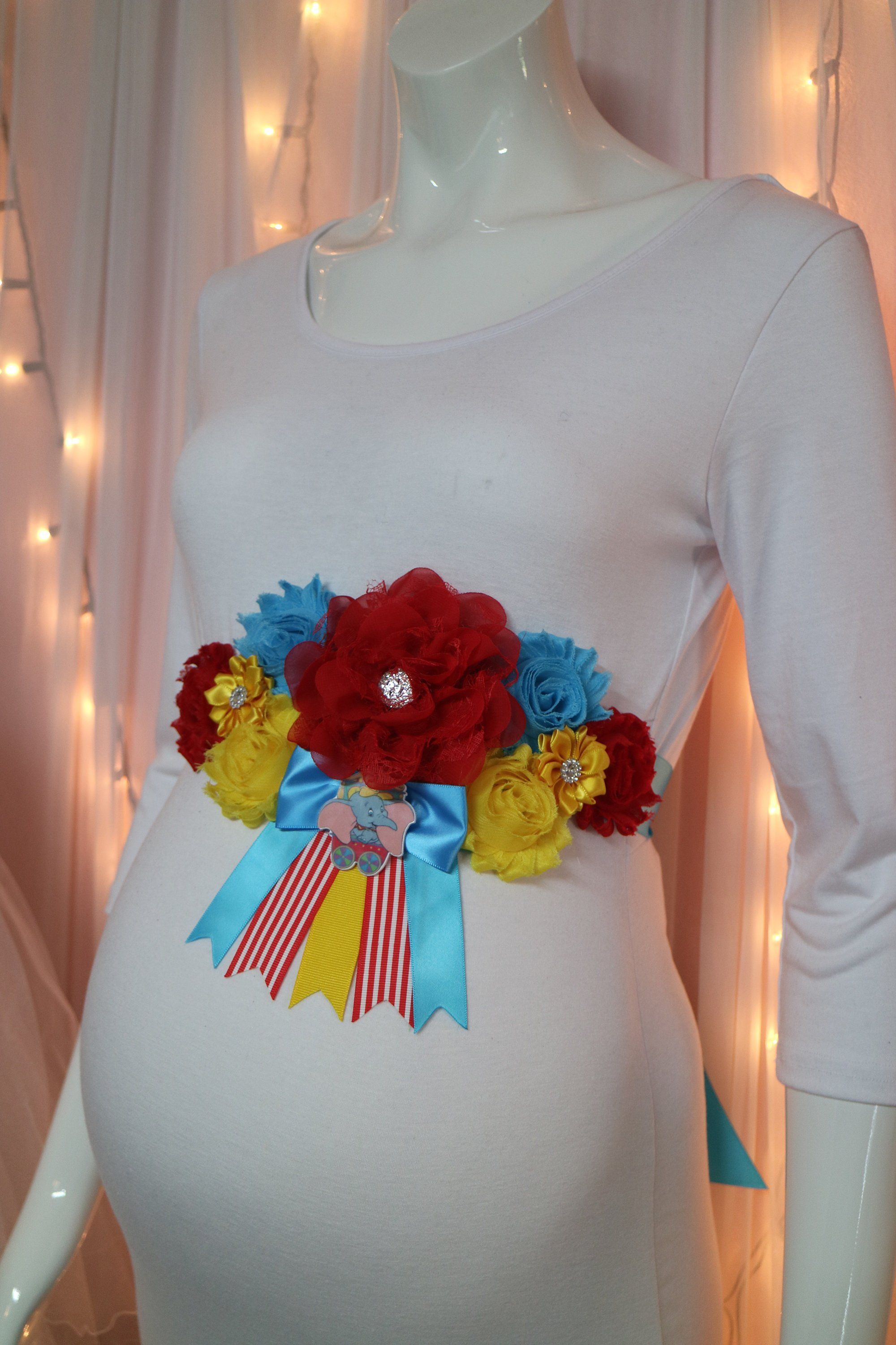 Dumbo Baby Shower Mommy To Be Floral Sash Baby Dumbo Disney Theme Baby Shower Baby Shower Corsage Disney Babies Dumbo Baby Shower Dumbo Baby Shower Theme Baby Shower Corsage