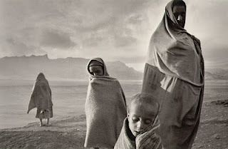 Refugees in the Korem camp  Ethiopia, 1984.  Sad. Beautiful. Emotional.