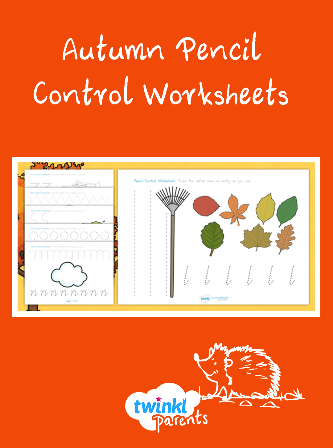 This Autumn Themed Pencil Control Worksheet Is A Handy Way