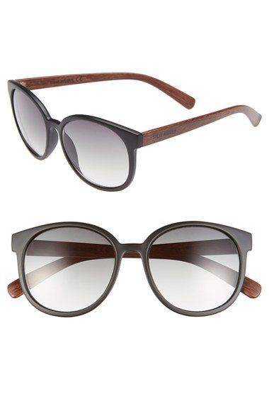 39c43c49aa6 Women s Steve Madden 55mm Retro Oval Sunglasses - Black