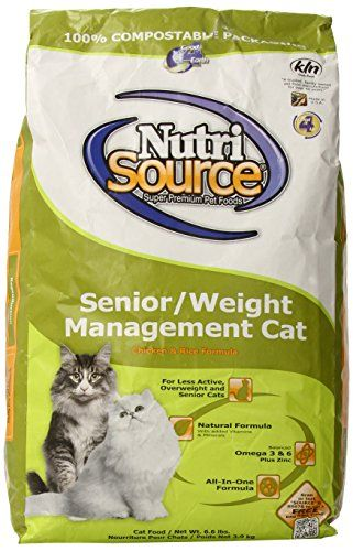 Tuffys Pet Food 131548 Nutri Cat Senior Weight Management Chickenrice Food 66pound Details Can Be Found By Clicking On The Image Cat Food Brands Best Cat Food Grain Free Cat Food