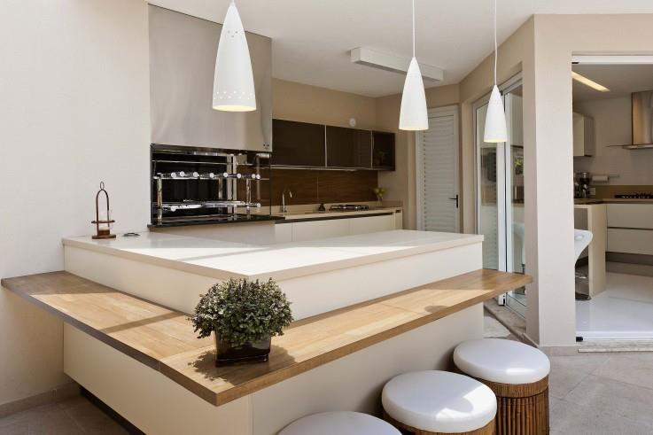 Varanda gourmet clean, chic.   cozinhas   Pinterest   Condominios ...