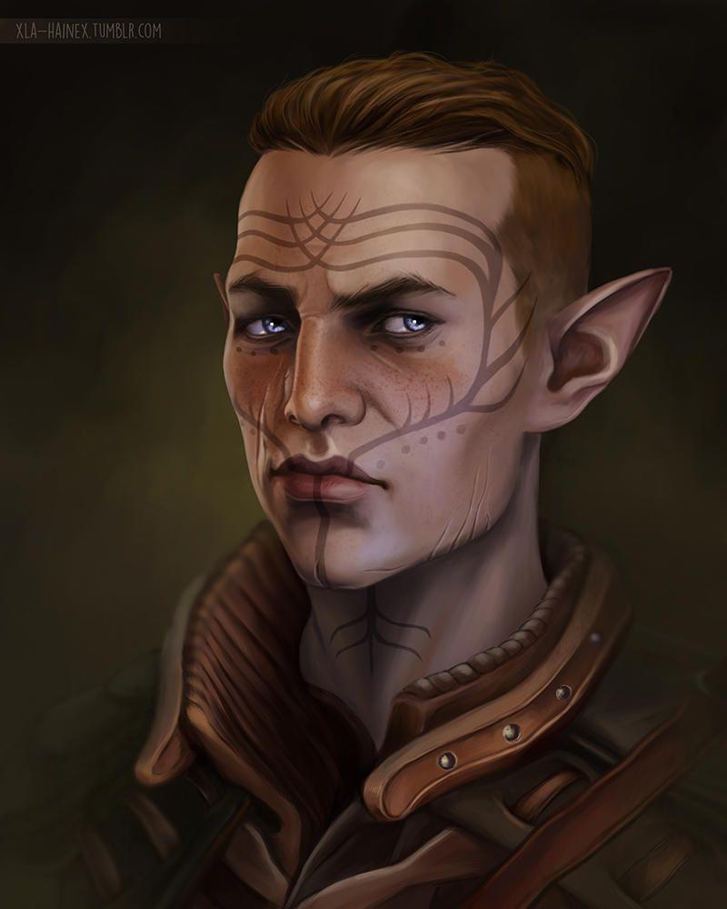De Elfar Dragen Traditionele Verf Hoe Dieper In Het Esgalwath Hoe Extravaganter En Puurder De Uiting Dragon Age Elf Dragon Age Rpg Dragon Age Characters