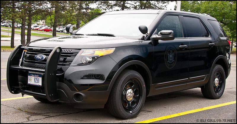 New York State Police Trooper Ghost Graphics H250 Ford Interceptor Utility Slicktop State Police Ford Police