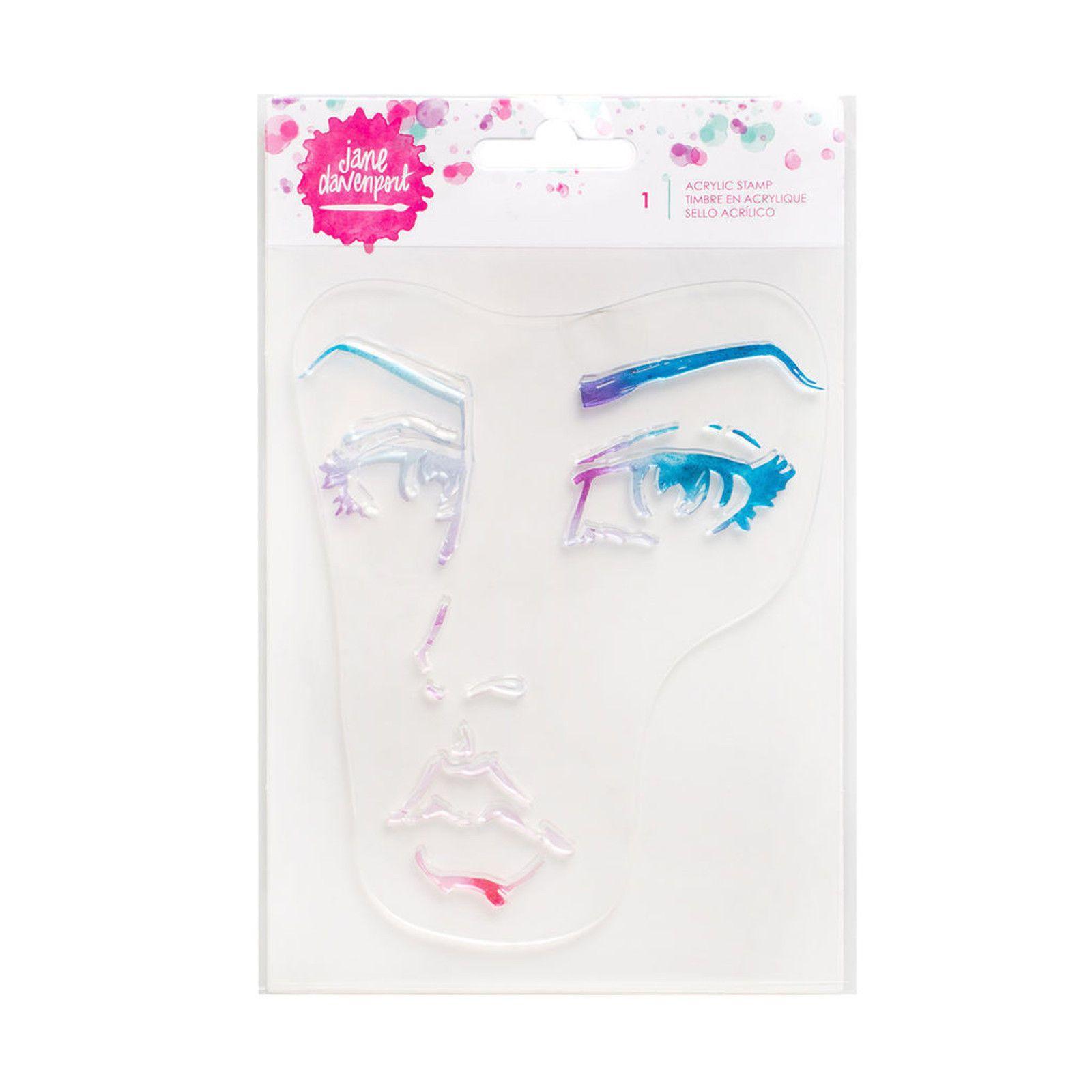 Spellbinders Jane Davenport Stencils-Good Face 7 x 8-inch