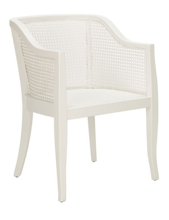 Pleasant Bradley Contemporary White Cane Dining Chair From The Well Caraccident5 Cool Chair Designs And Ideas Caraccident5Info