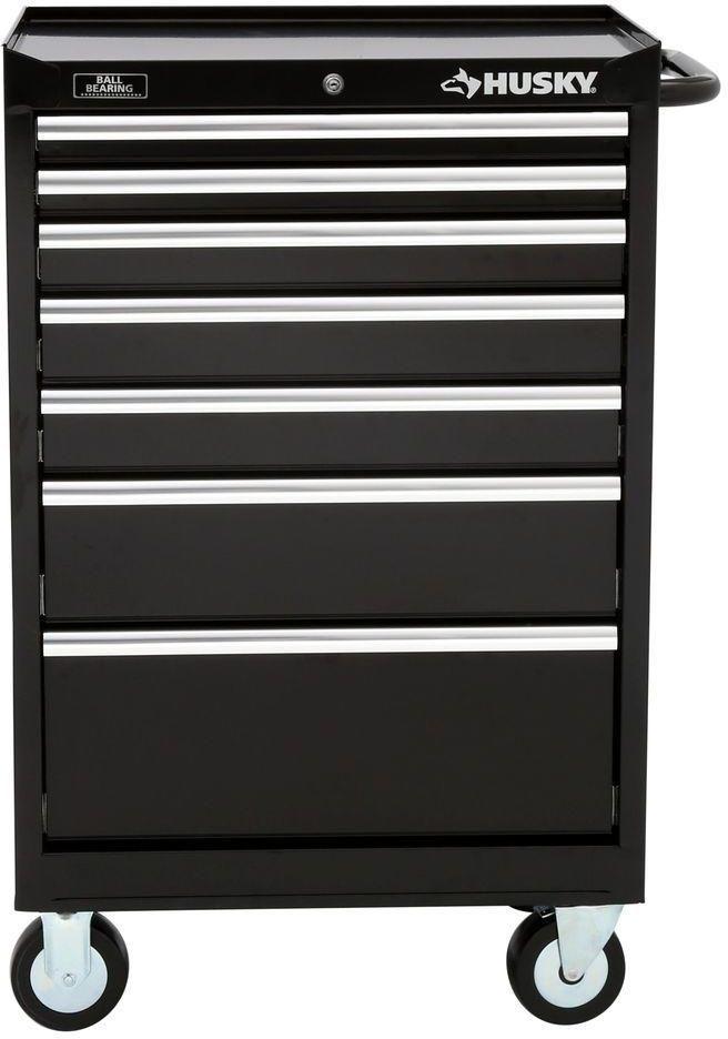 husky 7 drawer mechanics mobile rolling toolbox storage tool cabinet rh pinterest co uk