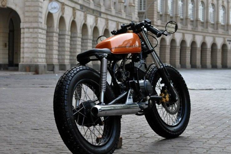 Custom 1974 Yamaha Sr500 Scrambler With Images Cafe Racer