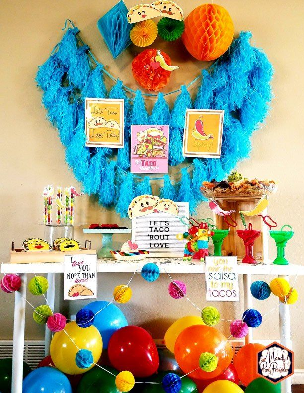 Taco Bout Love Valentine Taco Party | Mandy's Party Printables #valentineparty #tacoparty #tacoboutlove #ilovetacos #MPP #fiesta