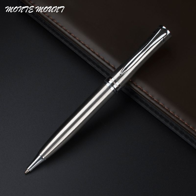 Monte Mount Luxury Stainless Steel Ballpoint Pen Stationery Executive Office Supplies Writing Pens Affiliate