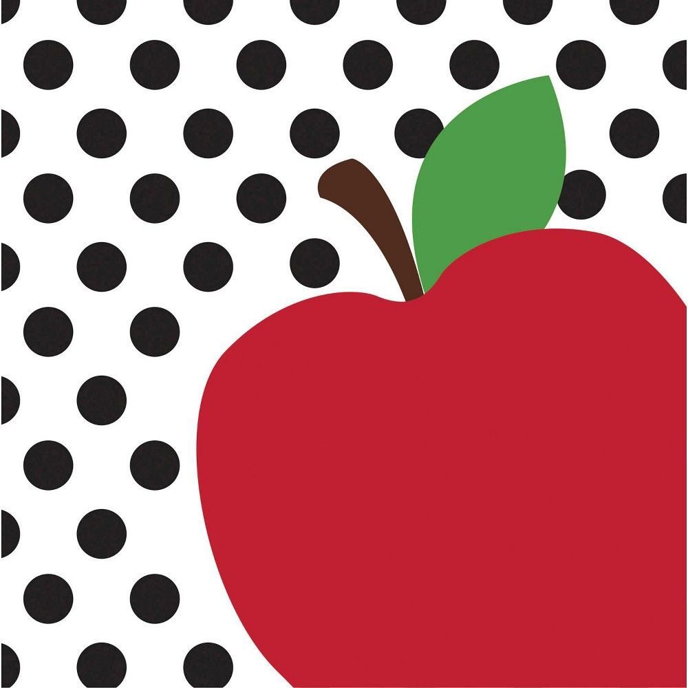 Cypress Home Teacher's Apple Paper Lunch Napkin, 20 count