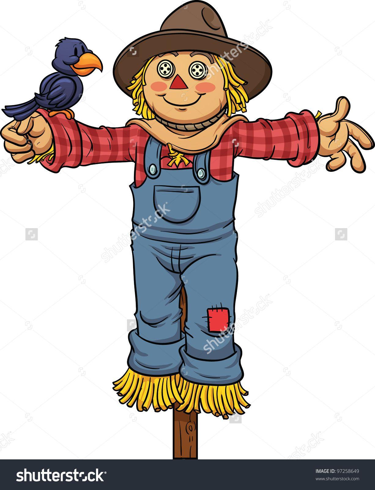 cartoon scarecrow. vector illustration