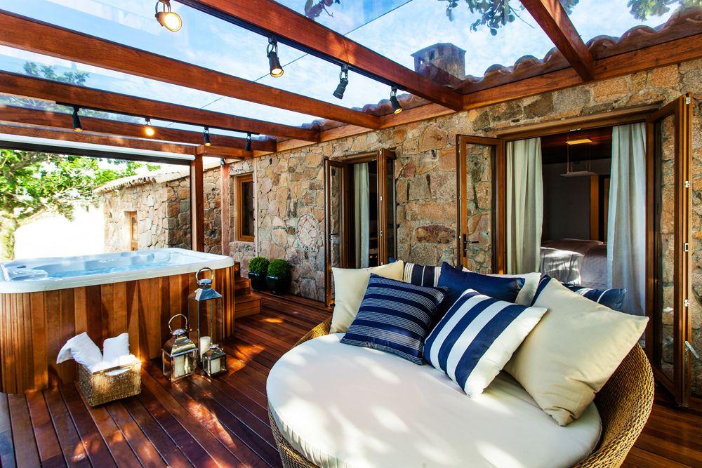 Pedra + Madeira + Vidro + Hidro (Proj Juliana Pippi) decoraç u00e3o Decoraç u00e3o de varanda gourmet  -> Decoração De Varandas Externas De Casas