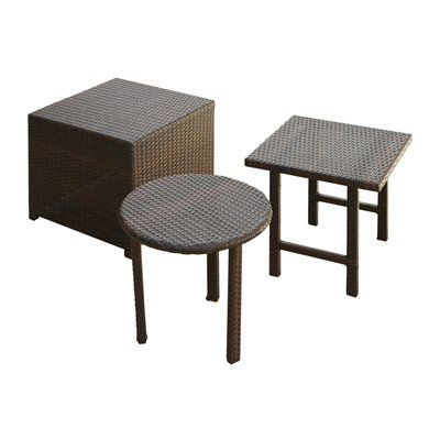 best selling home decor outdoor end table palmilla 3 piece outdoor rh pinterest com