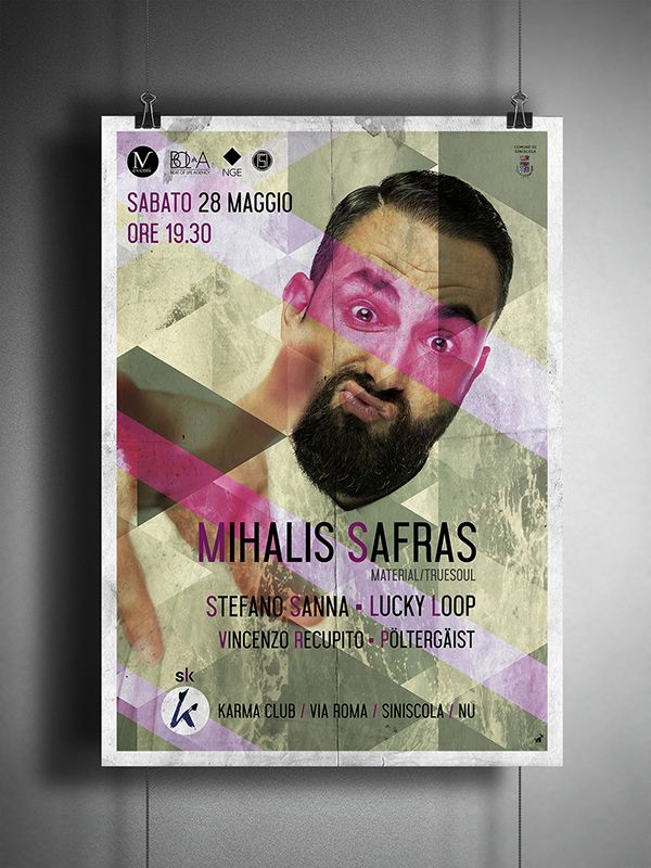 S.L.K. (Saturday Listen Karma) - Artwork for MV Event and Karma club - Mihalis Safras